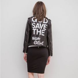 God Save the Blue Gene leather jacket