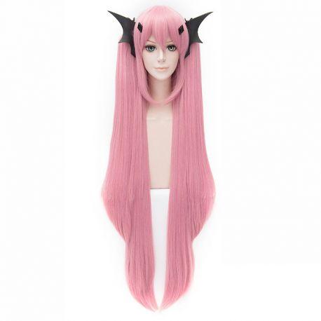 Owari no Seraph - Krul Tepes pitkä vaaleanpunainen peruukki