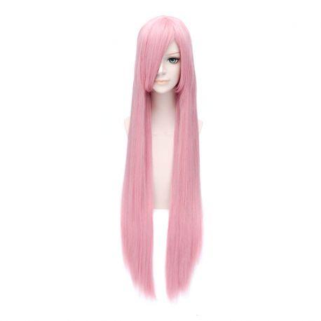 Vocaloid - Luka pitkä vaaleanpunainen suora peruukki