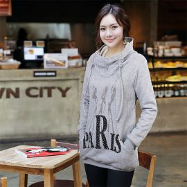 Women's long Paris hoodie