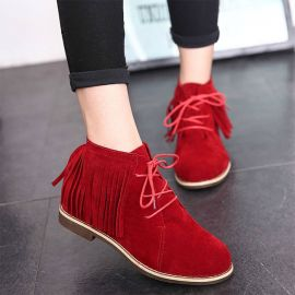 Women's mocca shoes with tassels