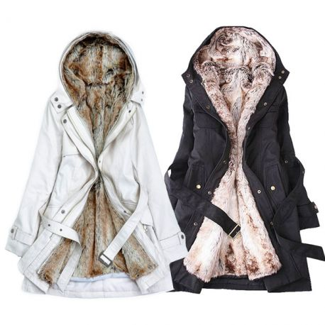 Women's lined winter coat