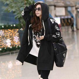 Women's big skull hoodie