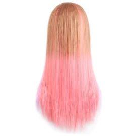 Cosplay long pink-brown wig