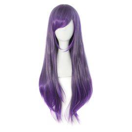Cosplay pitkä violetti peruukki