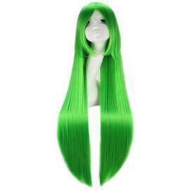 Cosplay pitkä vihreä suora peruukki