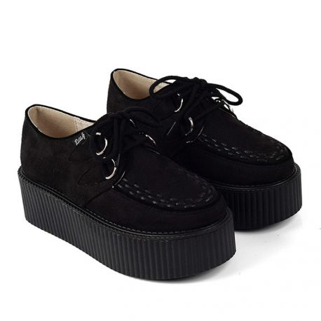 Fashion black creeper shoes