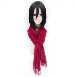 Shingeki no Kyojin - Attack on Titan - Mikasa Ackerman svart peruk