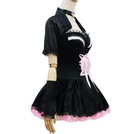 Pinkkimusta korsettimallinen Lolita meido-asu