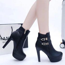 Women's black high heel shoes
