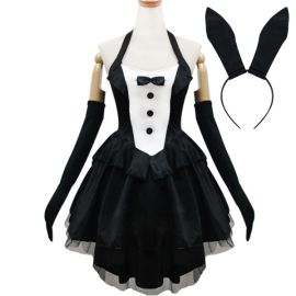 Pink black cosplay Lolita maid dress