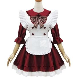 Wine red Lolita maid dress