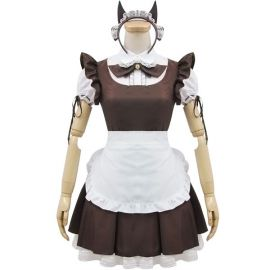 Dark brown Lolita maid dress