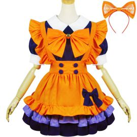 Orange Lolita maid dress