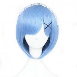 Re:Zero - Rem kort ljusblå peruk