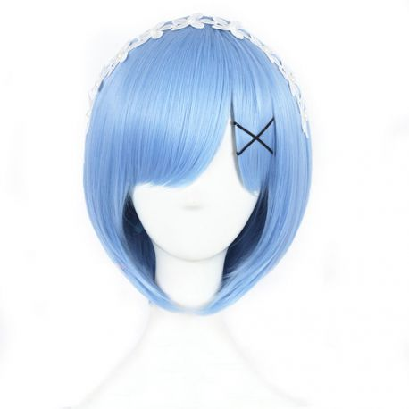 Re:Zero - Rem short light blue wig