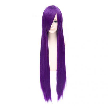 Cosplay pitkä violetti suora peruukki