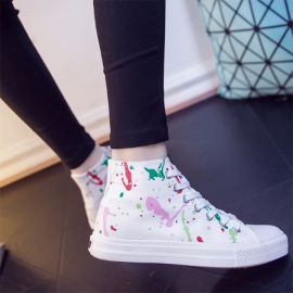 Colorful graffiti sneakers