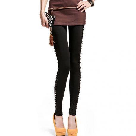 Elegant leggings with rivets
