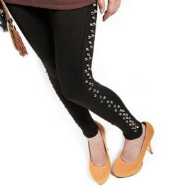 Elegant leggings with rivets