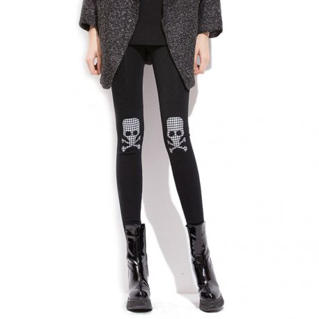 Stylish skull pattern leggings
