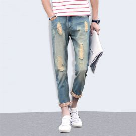 Stylish ripped jeans