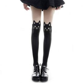 Cat pattern pantyhose