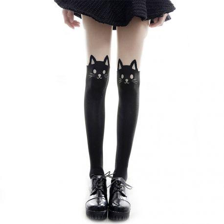 Cat pattern pantyhose