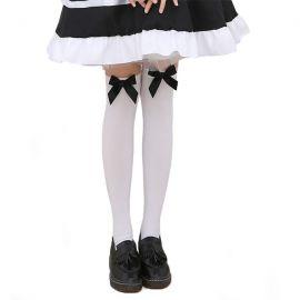 Lolita-tyyliset sukkahousut rusetilla
