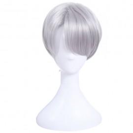 Yuri!!! on Ice - Viktor Nikiforov lyhyt harmaa peruukki