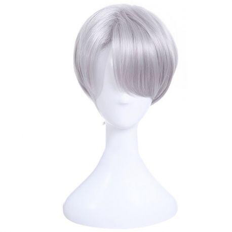 Haikyuu!! - Koushi Sugawara lyhyt harmaa peruukki