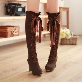 Women's long high heel boots