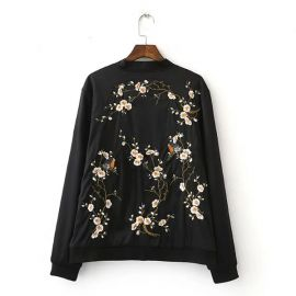 Stylish floral bomber jacket
