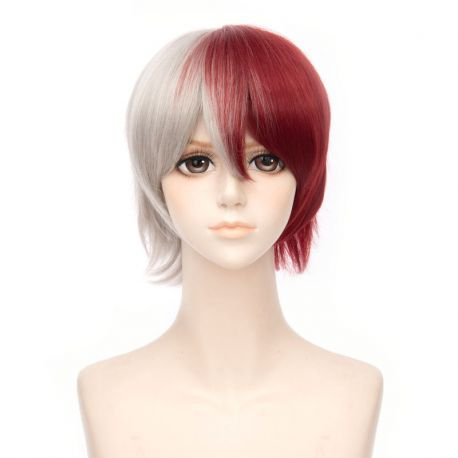 Boku no Hero Academia - My Hero Academia - Shoto Todoroki short white red wig