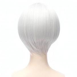 Cosplay lyhyt tummanvihreä peruukki